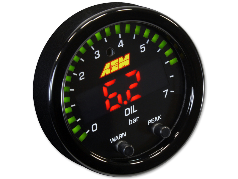 Oil / Fuel pressure gauge 7 bar X-Series