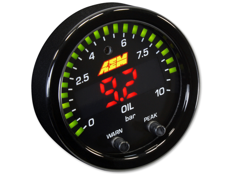 Oil / Fuel pressure gauge 10 bar X-Serie
