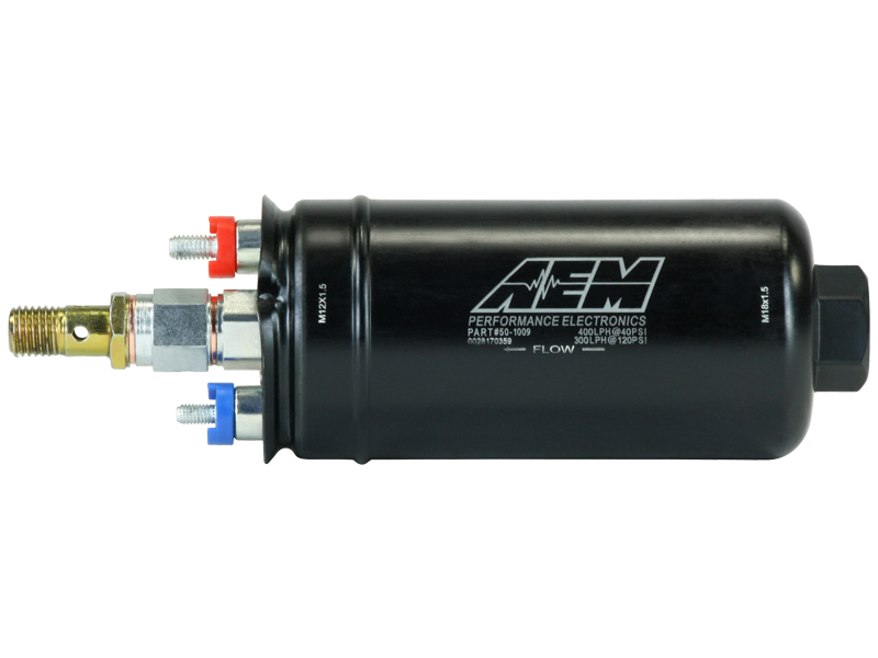 in-line AEM fuel pump 400lt/h Metric