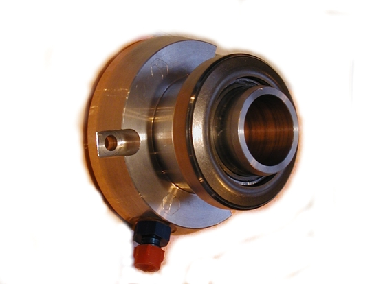 Coaxial hydraulic throwout bearing